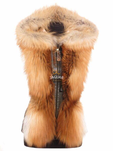 Меховая жилетка MEA15